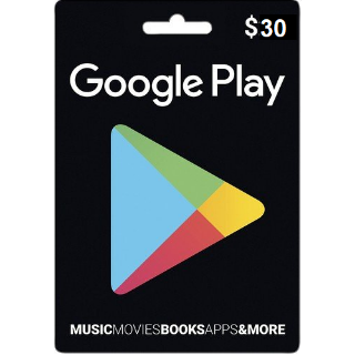 $30.00 Google Play Gift Code US Auto Delivery