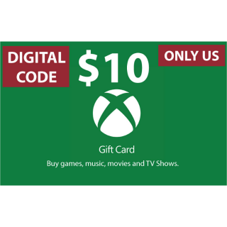 $10.00 Xbox Gift Card[INSTANT Delivery!]