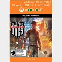 [USA]Sleeping Dog: Definitive Edition - Xbox One