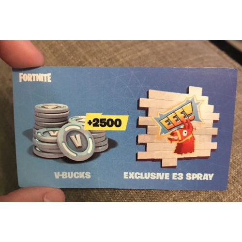 Fortnite Exclusive E3 Spray / +2500 V-Bucks - Other - Gameflip