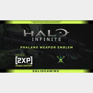 Halo Infinite Phalanx Weapon Emblem + 2XP 30 mins   Xbox   Windows 10   Best Price   !SGKeys   Halowaypoint