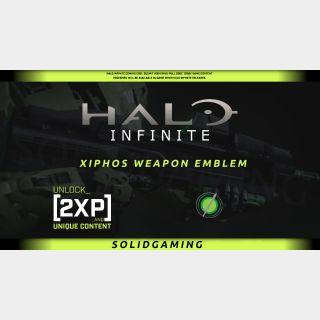 Halo Infinite Xiphos Weapon Emblem + 2XP 30 mins   Xbox   Windows 10   Best Price   !SGKeys   Halowaypoint