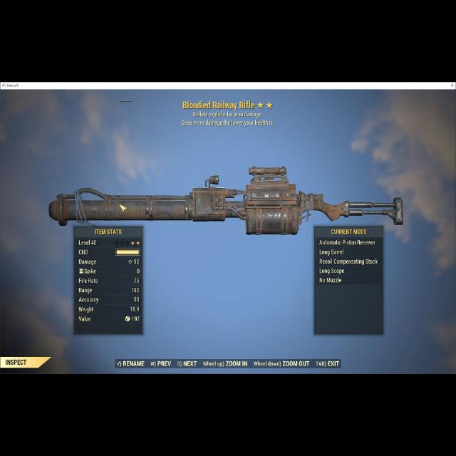 Weapon   Bloodied Railway Rifle