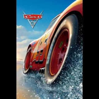 Cars 3 4K UHD Digital Movie Code!