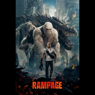 Rampage 4K UHD Digital Movie Code!