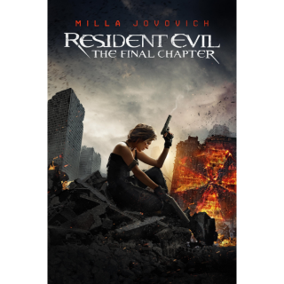 Resident Evil: The Final Chapter HD Digital Movie Code