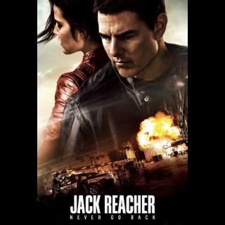 Jack Reacher: Never Go Back HD Digital Movie Code!