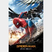 Spider-Man: Homecoming  FULL HD DIGITAL MOVIE CODE!!