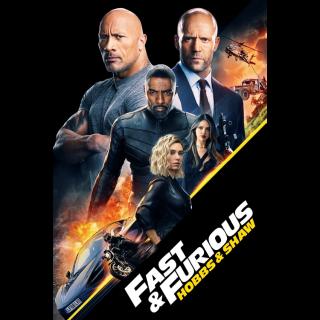 Fast & Furious Presents: Hobbs & Shaw 4K UHD Digital Movie Code!