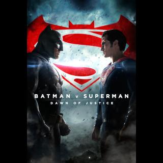 Batman v Superman: Dawn of Justice Ultimate Edition HD Digital Movie Code!