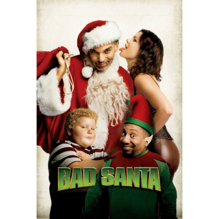 Bad Santa Unrated and Director's Cut HD Digital Movie Code!