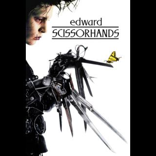 Edward Scissorhands HD Digital Movie Code!