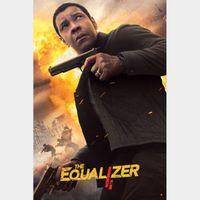 The Equalizer 2 4K UHD Digital Movie Code!!