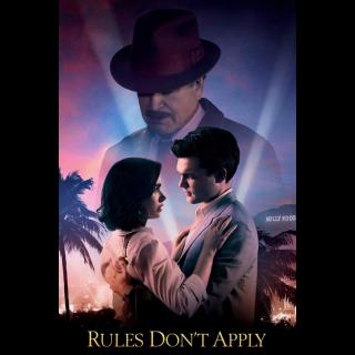 Rules Don't Apply HD digital movie code!