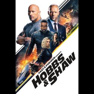 Fast & Furious Presents: Hobbs & Shaw  FULL HD DIGITAL MOVIE CODE!!