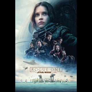 Rogue One: A Star Wars Story HD Digital Movie Code!