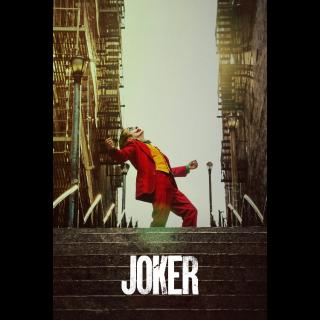 Joker 4K UHD Digital Movie Code!!