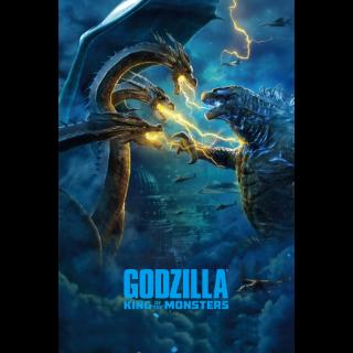 Godzilla: King of the Monsters 4K UHD Digital Movie Code!