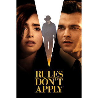 Rules Don't Apply  FULL HD DIGITAL MOVIE CODE!!