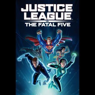 Justice League vs. the Fatal Five HD Digital Movie Code!