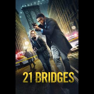 21 Bridges 4K UHD Digital Movie Code!!***ITUNES ONLY***