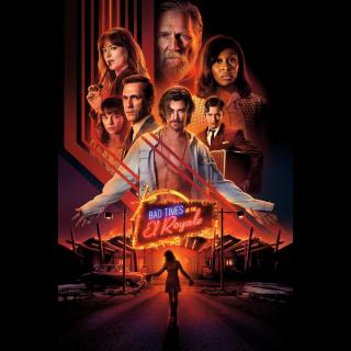 Bad Times at the El Royale HD Digital Movie Code!