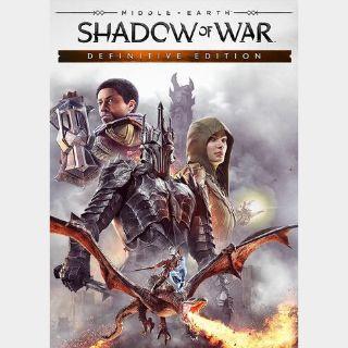 Middle-earth: Shadow of War (Definitive Edition) Steam Key GLOBAL