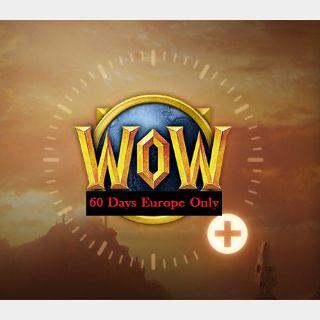 World of Warcraft Game Time - 60 Days EU
