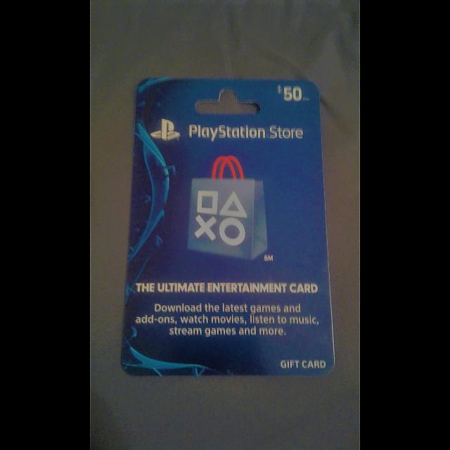50$ PSN CARD - PlayStation Store Gift Cards - Gameflip
