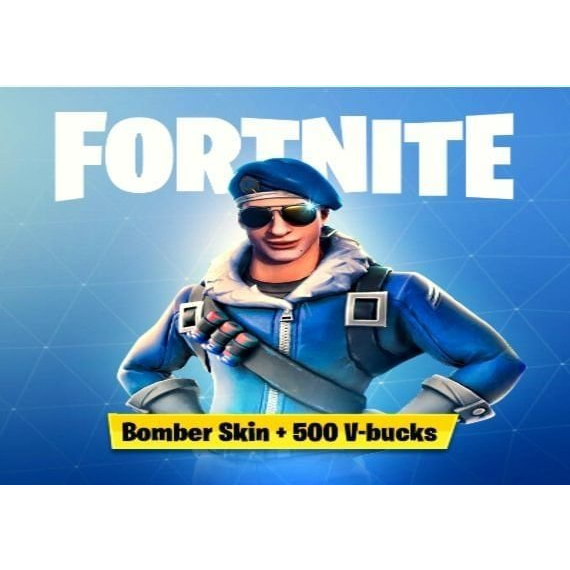 Fortnite Bomber Skin Code 500 V Bucks Na Region Ps4