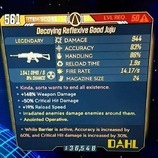 Weapon   Decaying Good Juju