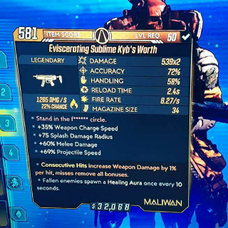 Weapon   Sublime Kyb's Worth