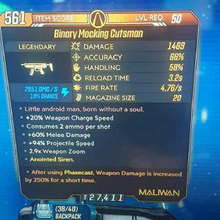 Weapon   Binary Mocking Cutsman