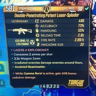 Weapon   Potent Laser-Sploder