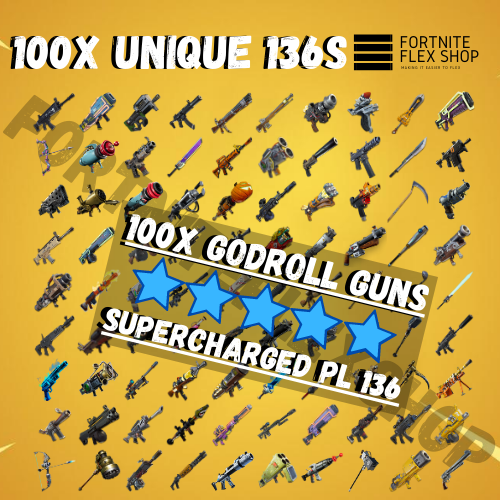 Supercharged Pl 136 Different Guns x100 | 100