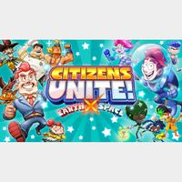 Citizens Unite!: Earth x Space - Full Game - PS4 NA - Instant - 216F