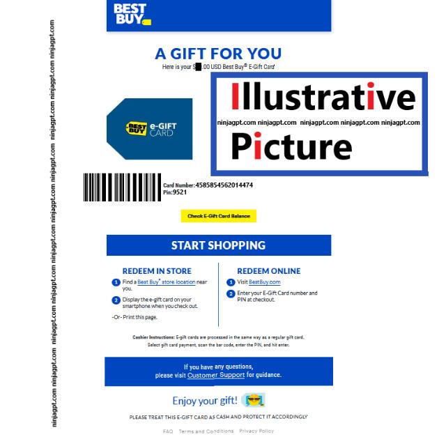 2500 Best Buy Redeem Online Or Store Best Buy Gift