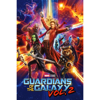 Guardians of the Galaxy Vol. 2 HD  (Instant Delivery) - Redeems via Movies Anywhere