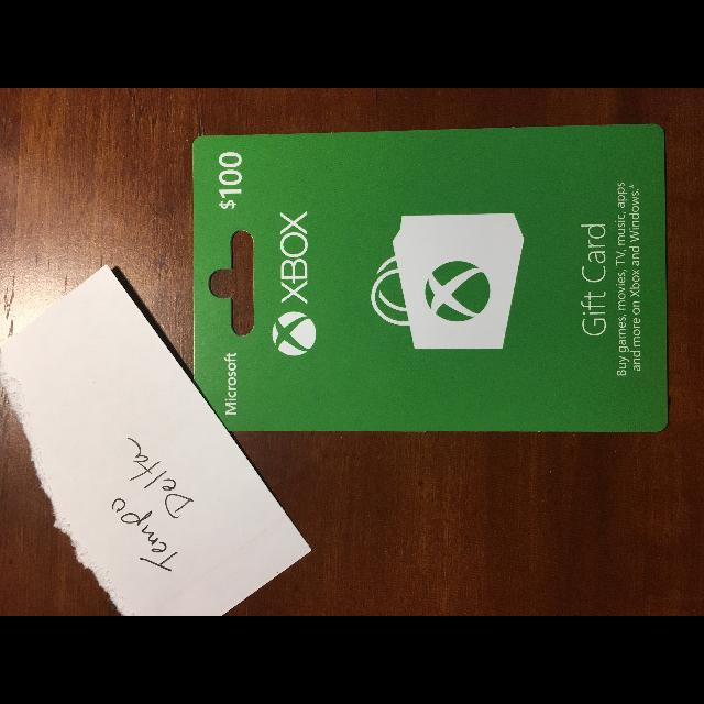100 Xbox Live Gift Card