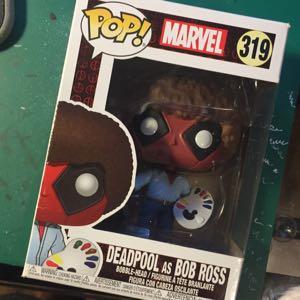 Deadpool as Bob Ross