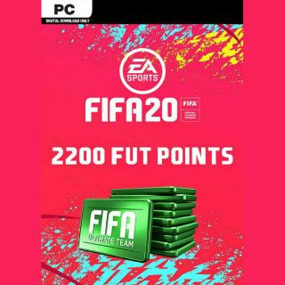 FIFA 20 - 2200 FUT Points Origin Key PC