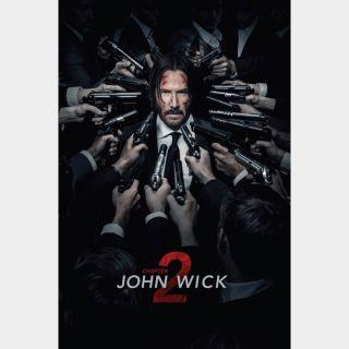 John Wick: Chapter 2 4K UHD moveredeem.com itunes vudu google play fandango
