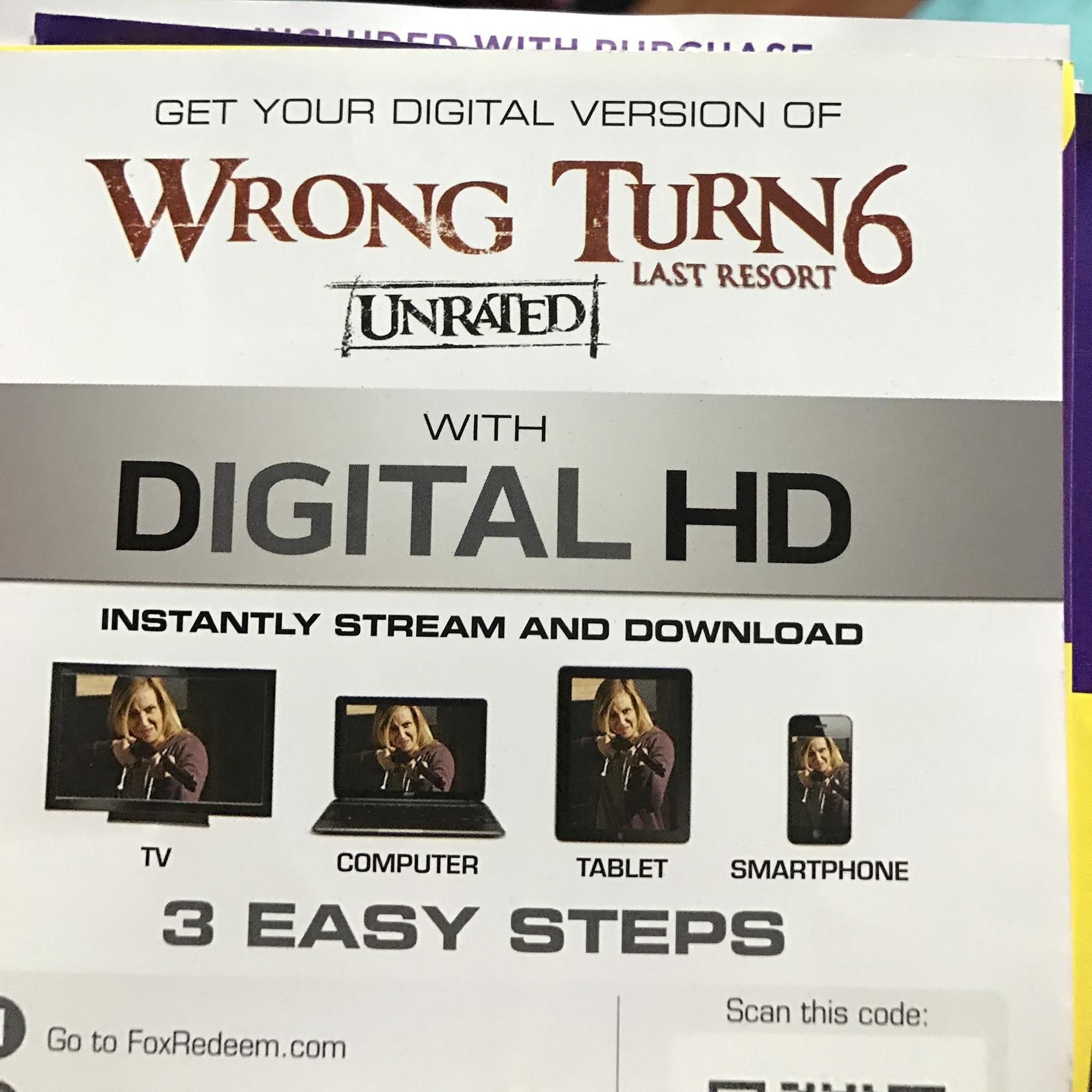 Wrong Turn 6 Last Resort HD digital download Foxredeem us only