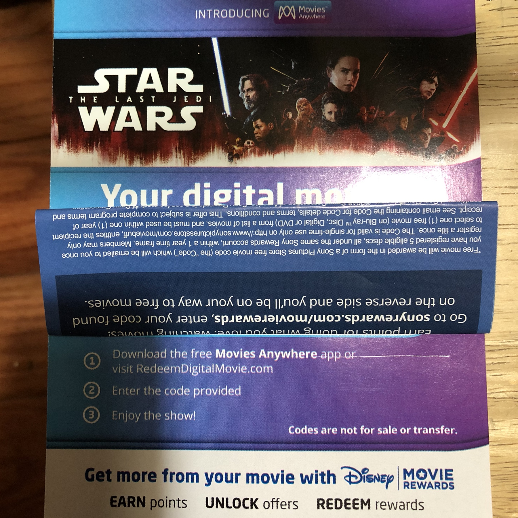 Star Wars The Last Jedi HD digital download