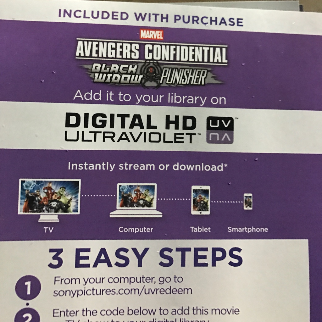 Avengers Confidental Black Widow & Punisher HD movie download UV  Ultraviolet US ONLY - Digital M     - Gameflip