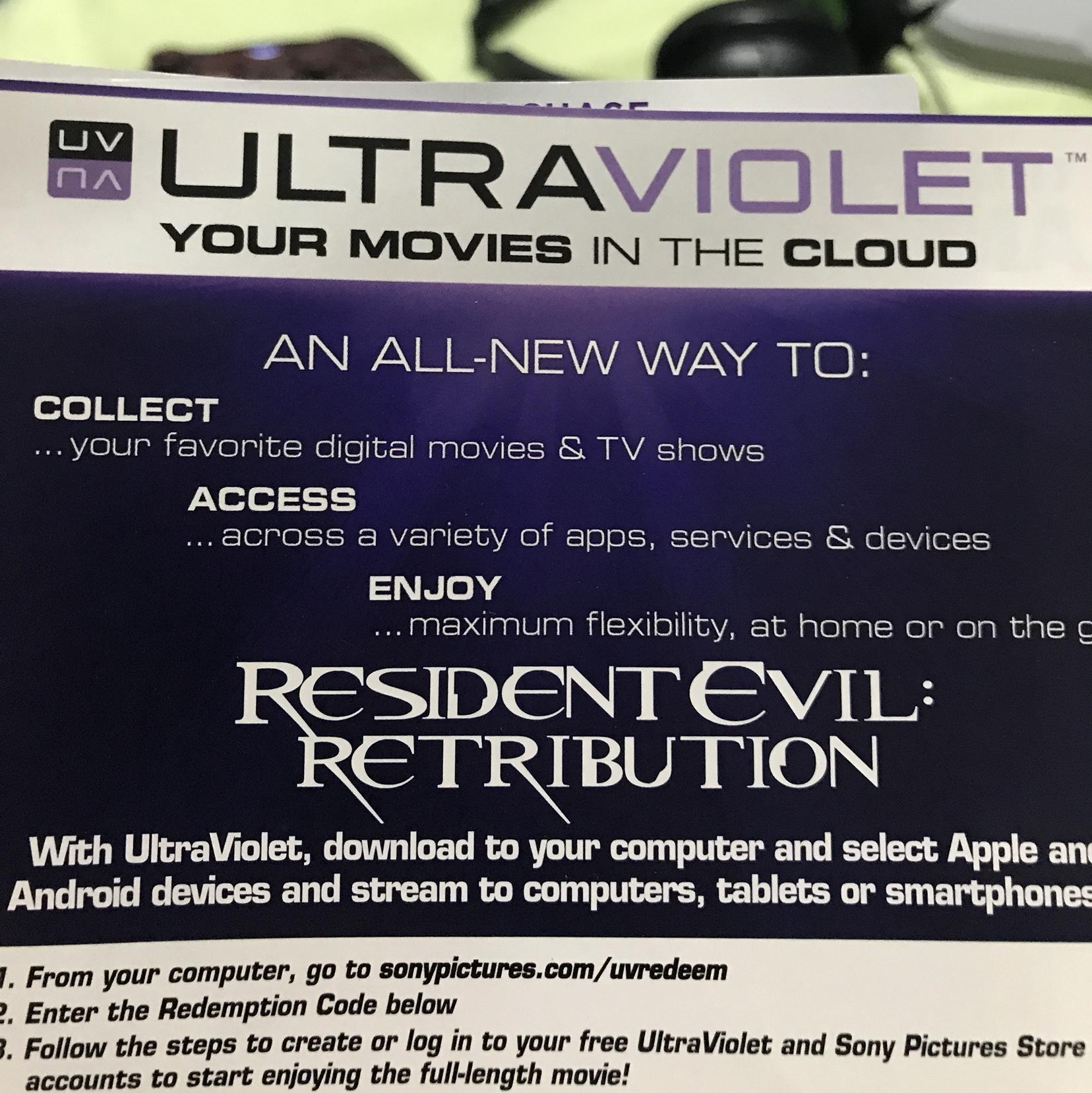 Resident Evil Retribution HD digital download UV Ultraviolet us only -  Digital Movies - Gameflip