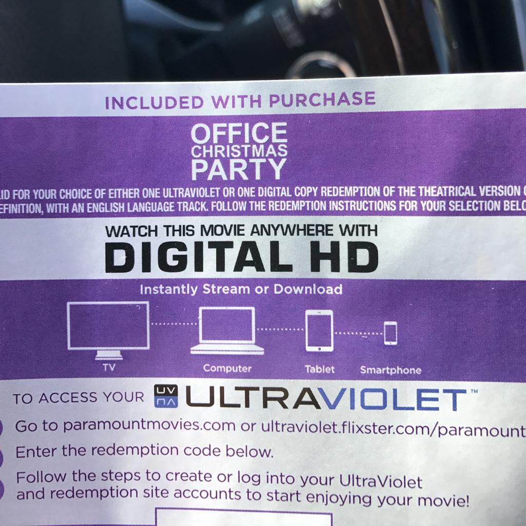 Office Christmas Party HD digital download movie UV Ultraviolet US ...