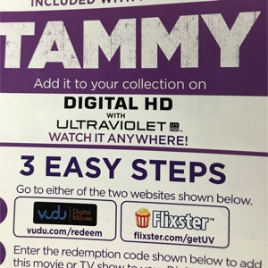 Tammy HD digital download UV Ultraviolet us only