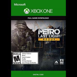 Metro Last Light Redux XBOX LIVE/XBOX ONE Digital Code