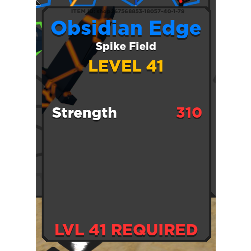 Other | Obsidian Edge TQ - In-Game Items - Gameflip